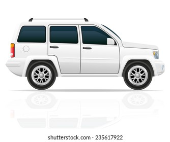 car jeep off road suv illustration isolated on white background