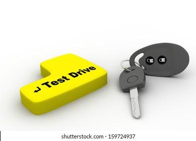 Car keys, objects isolated on white background.