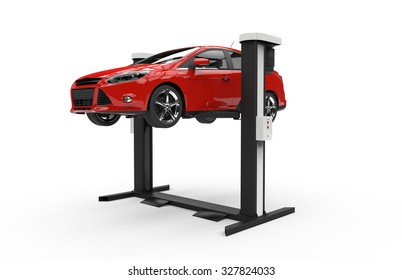 Car lifting isolated on a white background