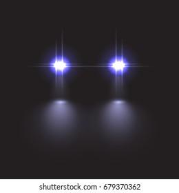 Car light effect. Raster copy.