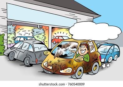 The car needs a car wash