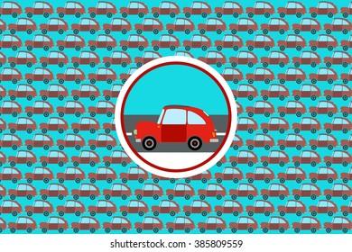 Car on the road logo design