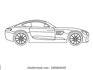 car outline art