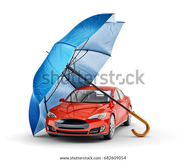 Car Protection Safety Assurance Concept Modern Stock