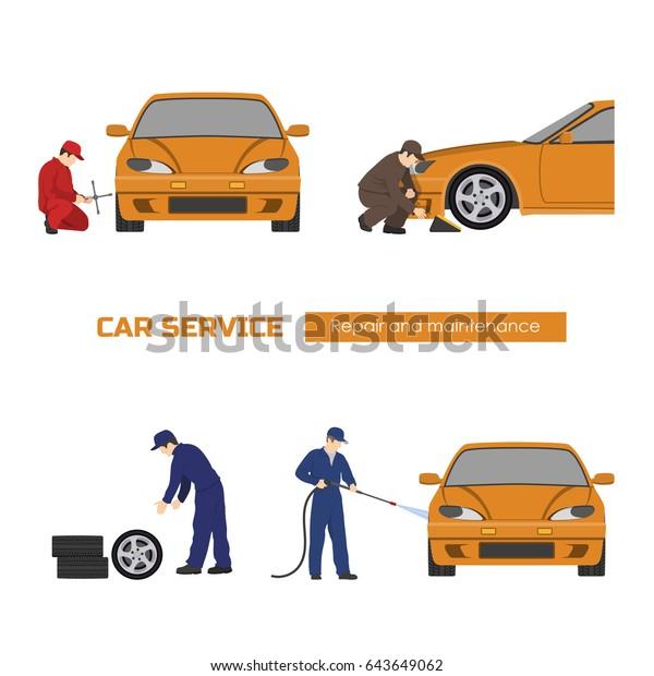 Car Repair And Maintenance >> Car Repair Maintenance Vehicle Workshop Auto Stock