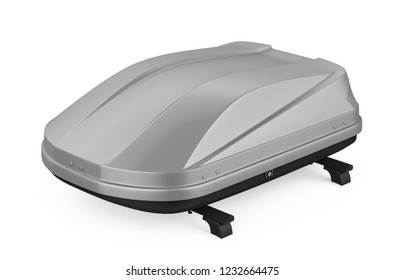 Car Roof Rack Isolated. 3D rendering