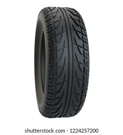 Car tire isolated on white background. 3d illustration