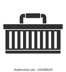 Car tool box icon. Simple illustration of car tool box icon for web design isolated on white background
