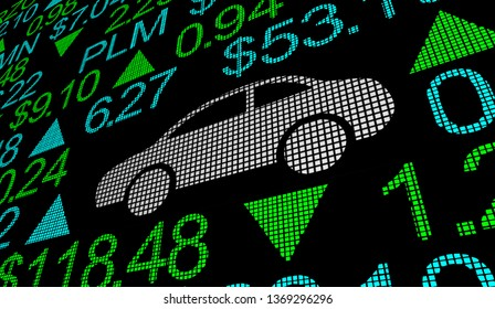 Car Vehicle Automotive Business Stock Market Exchange Prices 3d Illustration