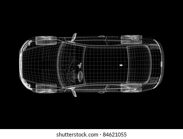 car wire top view