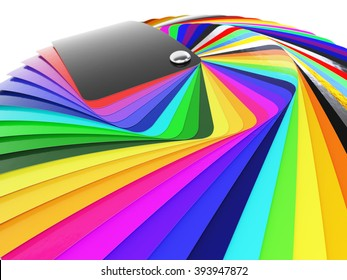 Car wrapping film color palette swatch