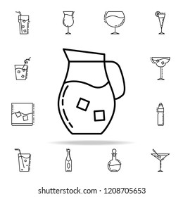 carafe with cold drink dusk icon. Drinks & Beverages icons universal set for web and mobile