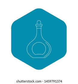 Carafe icon. Outline illustration of carafe icon for web
