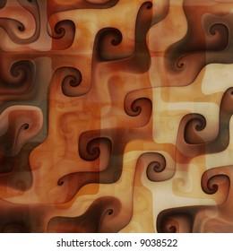 Caramel chocolate swirls