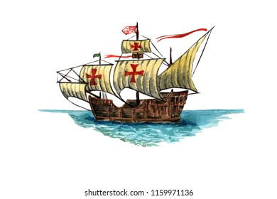 "Caravel ""Santa Maria"" by Christopher Columbus"