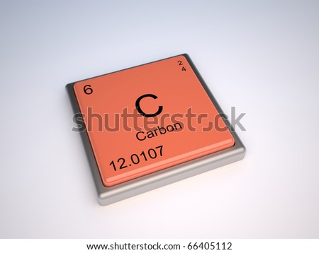 Carbon chemical element of periodic table with symbol C