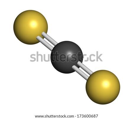 Carbon Disulfide Cs 2 Molecule Liquid Used Stock Illustration