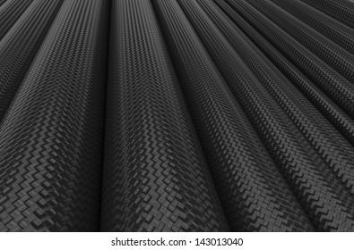 Carbon fiber tubes background