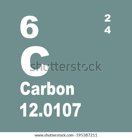 Carbon Periodic Table Elements Stock Illustration 595387211