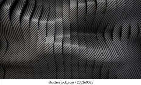 Carbon wavy band surface