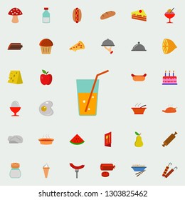 carbonated drink in a glass carbonated icon. Resturant icons universal set for web and mobile