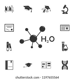 Carbonic acid molecule icon. Detailed set of education element icons. Premium quality graphic design. One of the collection icons for websites, web design, mobile app on white background