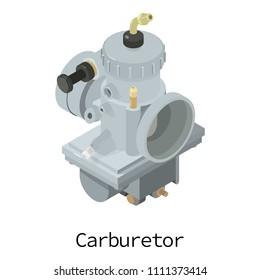 Carburetor icon. Isometric illustration of carburetor icon for web