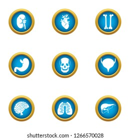 Carcass icons set. Flat set of 9 carcass icons for web isolated on white background