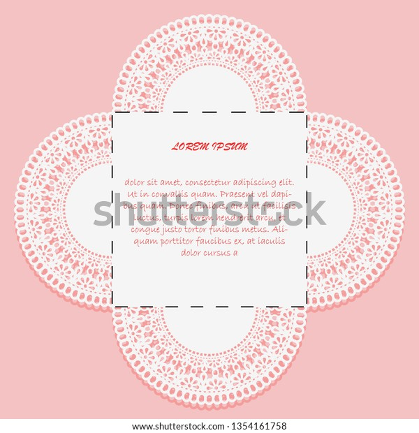 Card Invitation Cutting Down Example Design Stock