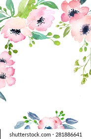 Blank Floral Invitation Images Stock Photos Vectors