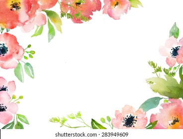 Similar Images Stock Photos Vectors Of Blank Watercolor Flower