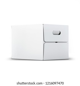 Cardboard Box Mock-up 3D illustration