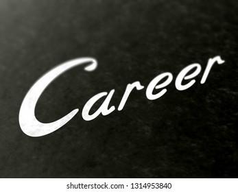 Career. 3D Illustration.