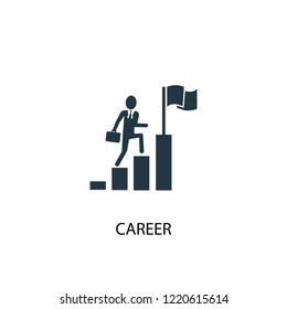 career icon. Simple element illustration. career concept symbol design. Can be used for web and mobile.