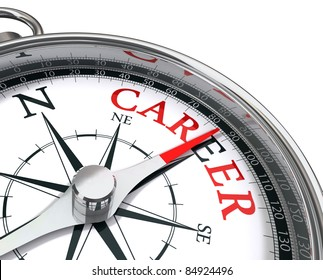 career the way indicated by compass conceptual image