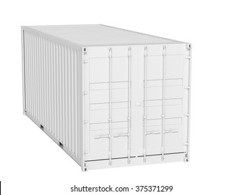 cargo container on a white background