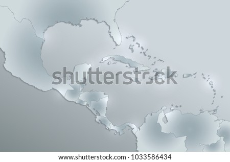 Caribbean Islands Central America Map Separate Stock Illustration ...