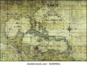 Caribbean - old map