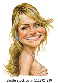caricature of Cameron Diaz