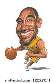 Caricature of Kobe Bryant
