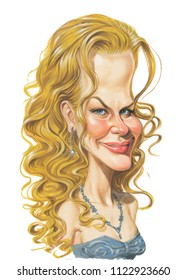 caricature of Nicole Kidman