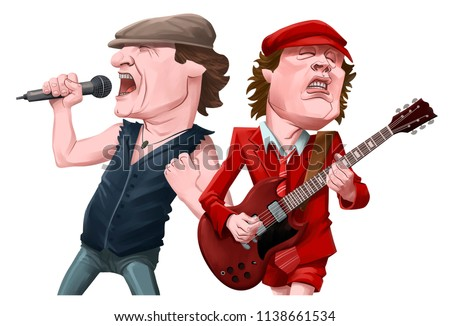 Caricatures of musician characters