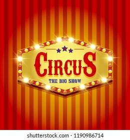 Carnival banner. Circus. Fun fair