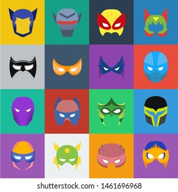 Carnival mask cartoon icons in set collection for design.Mask on the eyes and face bitmap symbol stock web illustration.