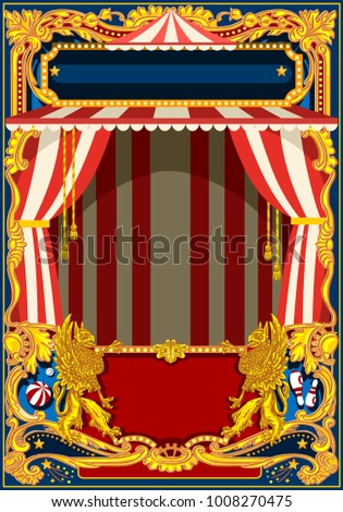 carnival poster template circus vintage theme stock illustration