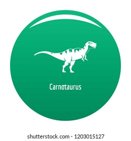 Carnotaurus icon. Simple illustration of carnotaurus icon for any design green