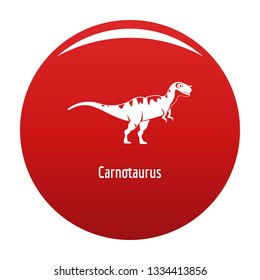 Carnotaurus icon. Simple illustration of carnotaurus icon for any design red