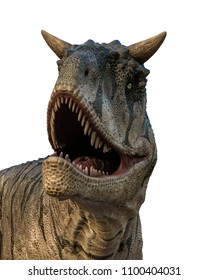 carnotaurus in a white background 3d illustration
