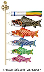 Carp streamer. The carp streamer is a symbol of Children's Day in Japan. The flying of koinobori symbolizes the wish that the boys in the family will grow to be strong and courageous as the carp.