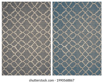 Carpet bathmat and Rug Boho style ethnic design pattern with distressed woven texture and effect